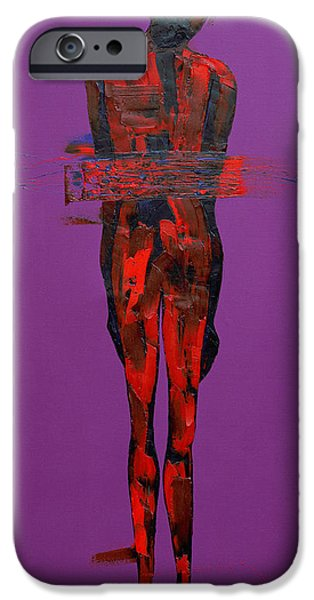 Passion iPhone Cases - Jesus in the Tomb  Station 14 iPhone Case by Penny Warden