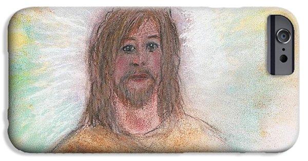 Son Of God Pastels iPhone Cases - Jesus  iPhone Case by Karen J Jones