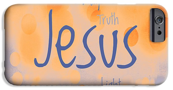 Bridegroom iPhone Cases - Jesus Light 2 iPhone Case by Angelina Vick