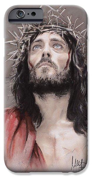 Jesus iPhone Cases - Jesus  iPhone Case by Melanie D
