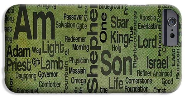 Bridegroom iPhone Cases - Jesus Name 1 iPhone Case by Angelina Vick