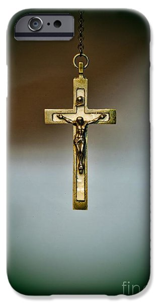 Jesus on the Cross 1 iPhone Case by Paul Ward