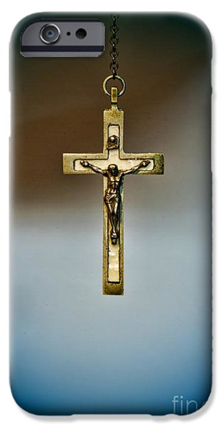 Jesus on the Cross 4 iPhone Case by Paul Ward