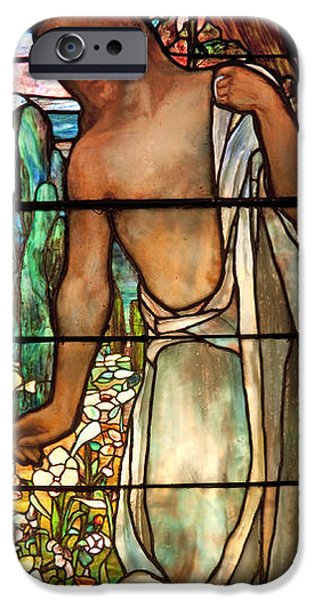 Interior Glass iPhone Cases - Jesus Stained Art - St Pauls Episcopal Church Selma Alabama iPhone Case by Mountain Dreams