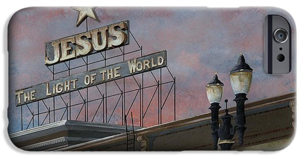 Jesus iPhone Cases - Jesus The Light of the Word iPhone Case by John Wyckoff