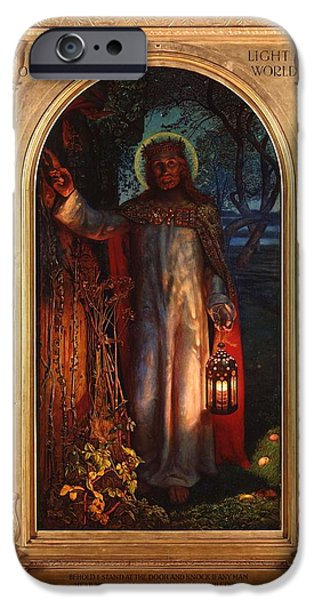 Jesus iPhone Cases - Jesus The Light of the World iPhone Case by William Holman Hunt