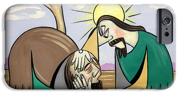 Jesus Digital iPhone Cases - Jesus Will Meet You Where You Are iPhone Case by Anthony Falbo