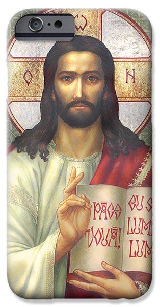 Bible iPhone Cases - Jesus iPhone Case by Zorina Baldescu