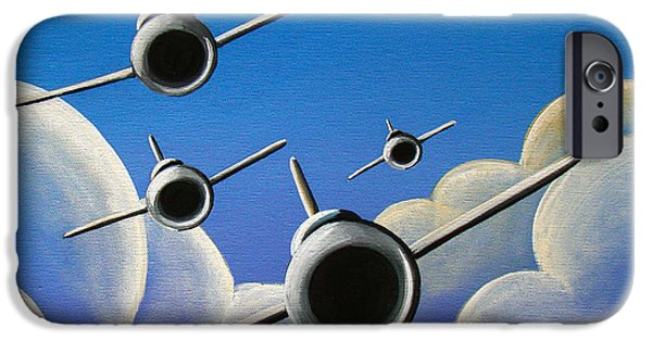 Military Airplanes iPhone Cases - Jet Quartet iPhone Case by Cindy Thornton