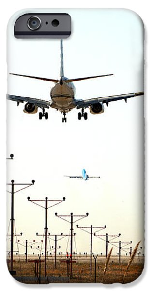 Jets Coming And Going iPhone Case by Deborah Smolinske