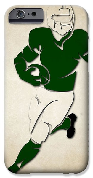 New York Jets iPhone Cases - Jets Shadow Player iPhone Case by Joe Hamilton