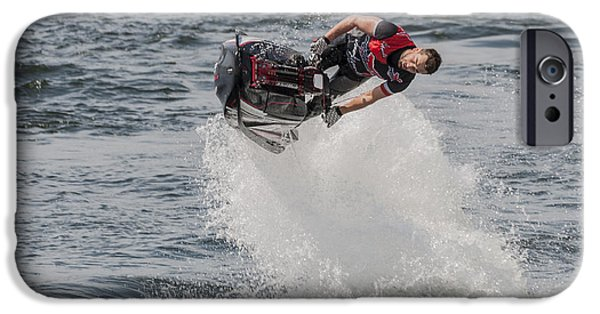 United iPhone Cases - Jetski Stunt 5 iPhone Case by Steve Purnell