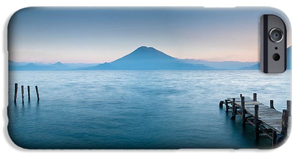 Santa Cruz iPhone Cases - Jetty In A Lake With A Mountain Range iPhone Case by Panoramic Images