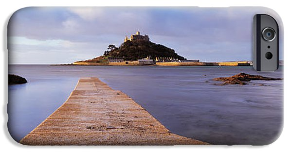 Michael iPhone Cases - Jetty Over The Sea, St. Michaels Mount iPhone Case by Panoramic Images