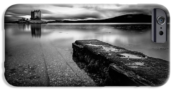 Castle iPhone Cases - Jetty to Castle Stalker iPhone Case by Dave Bowman