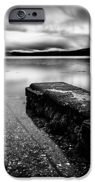 Jetty to Castle Stalker iPhone Case by Dave Bowman