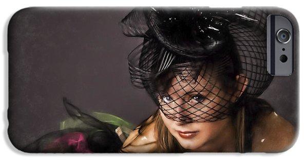 Ballet Dancers iPhone Cases - Jeune Femme Danseuse  ... iPhone Case by Chuck Caramella