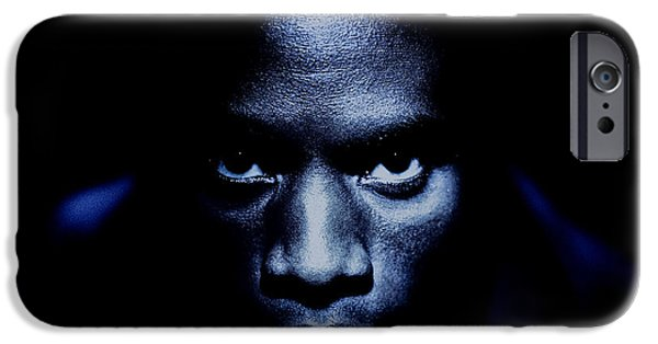 African-americans Photographs iPhone Cases - Jevon Blue iPhone Case by YoPedro