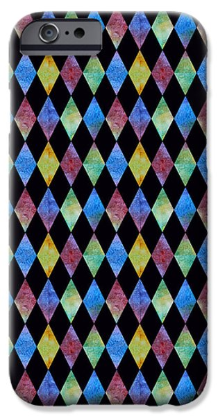 Elegant iPhone Cases - Jewel Diamonds iPhone Case by Jenny Armitage