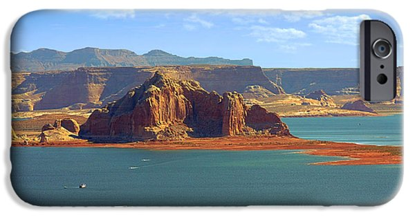 Wahweap iPhone Cases - Jewel in the Desert - Lake Powell iPhone Case by Christine Till
