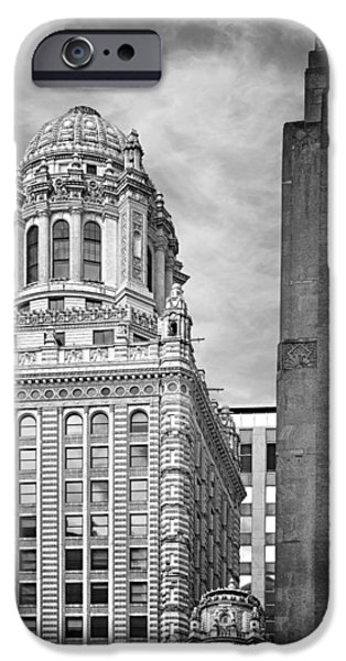 Interior Scene iPhone Cases - Jewelers Building - 35 East Wacker Chicago iPhone Case by Christine Till