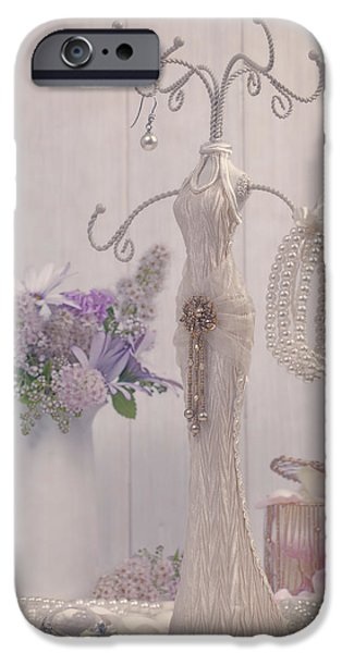 Soft Colour iPhone Cases - Jewellery And Pearls iPhone Case by Amanda And Christopher Elwell