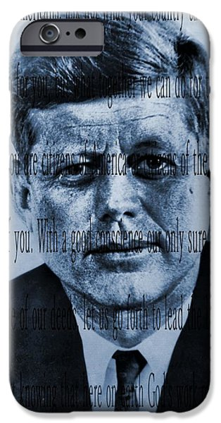 Inauguration iPhone Cases - JFK Inaugural Address iPhone Case by Dan Sproul