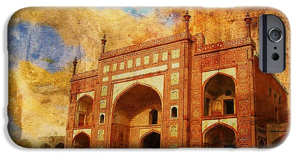 Pakistan iPhone Cases - Jhangir Tomb iPhone Case by Catf
