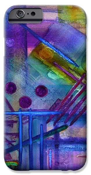 Contemporary Abstract iPhone Cases - Jibe Joist I iPhone Case by Moon Stumpp