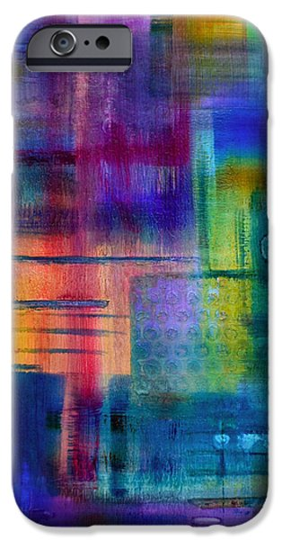 Fine Abstract Mixed Media iPhone Cases - Jibe Joist II iPhone Case by Moon Stumpp