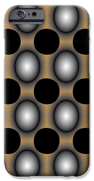 JigDot Abstract One iPhone Case by Emma Smith