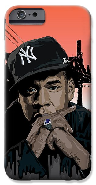 Jay Z iPhone Cases - Jigga iPhone Case by Tecnificent