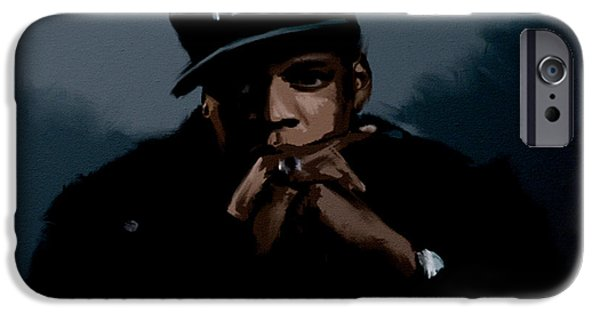 Dr. J iPhone Cases - Jiggaman Jay Z iPhone Case by Brian Reaves