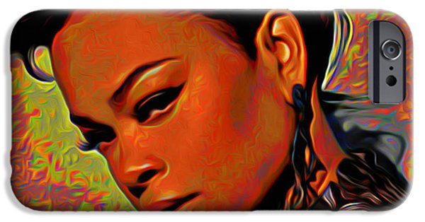 Celebrities Digital iPhone Cases - Jill Scott iPhone Case by  Fli Art