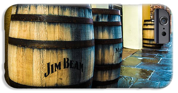 Rain Barrel iPhone Cases - Jim Beam iPhone Case by Jeff Tureaud