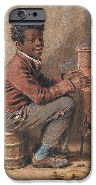 Young Paintings iPhone Cases - Jim Crow iPhone Case by William Henry Hunt