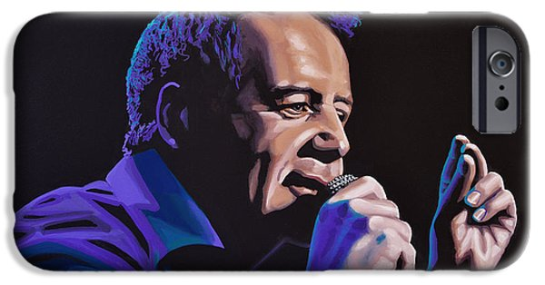 Mind iPhone Cases - Jim Kerr of The Simple Minds iPhone Case by Paul  Meijering