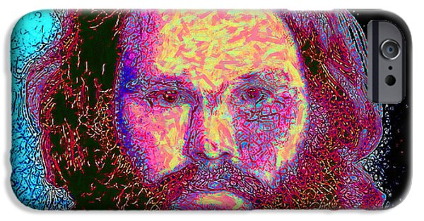 Alcatraz iPhone Cases - Jim Morrison 20130329 square iPhone Case by Wingsdomain Art and Photography