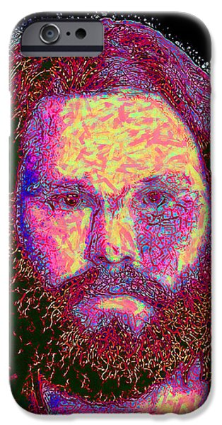 Jim Morrison 20130329 square iPhone Case by Wingsdomain Art and Photography