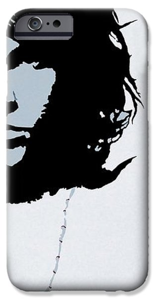 Jim Morrison iPhone Case by Bryan Dubreuiel