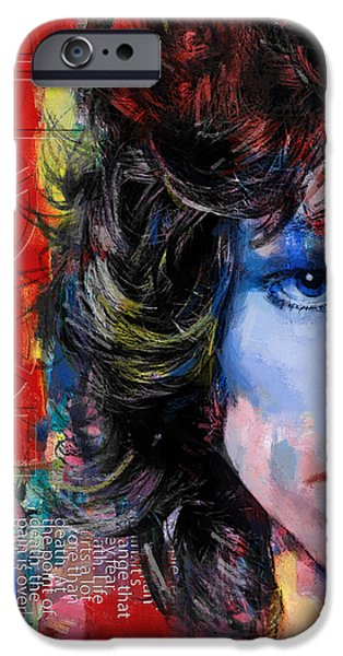 Storms Paintings iPhone Cases - Jim Morrison iPhone Case by Corporate Art Task Force