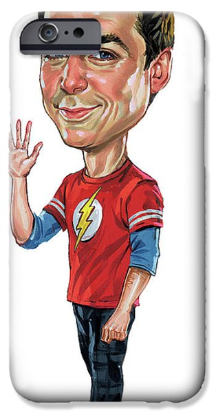 Bang iPhone Cases - Jim Parsons as Sheldon Cooper iPhone Case by Art