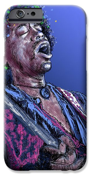 James Marshall Jimi Hendrix iPhone Cases - Jimi 3 iPhone Case by Stan Kwong