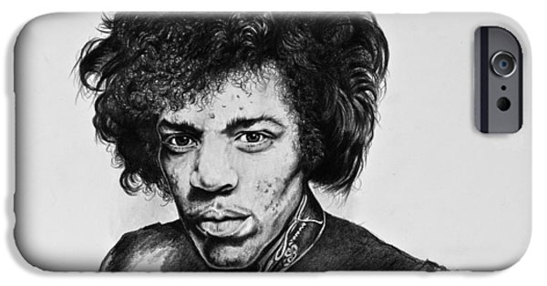 Stratocaster Drawings iPhone Cases - Jimi iPhone Case by Art Imago