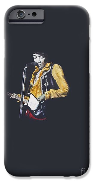 Beatles iPhone Cases - Jimi At Monterey 1 iPhone Case by Martin Howard