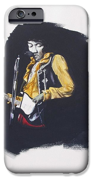 Beatles iPhone Cases - Jimi At Monterey 2 iPhone Case by Martin Howard