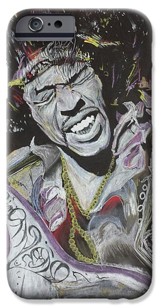 Johnny Allen Hendrix iPhone Cases - Jimi iPhone Case by DMo Herr