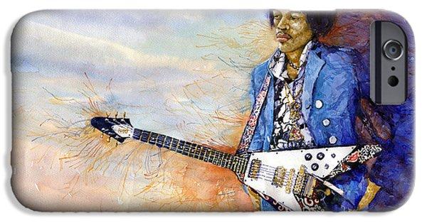 Jimi Hendrix iPhone Cases - Jimi Hendrix 10 iPhone Case by Yuriy Shevchuk