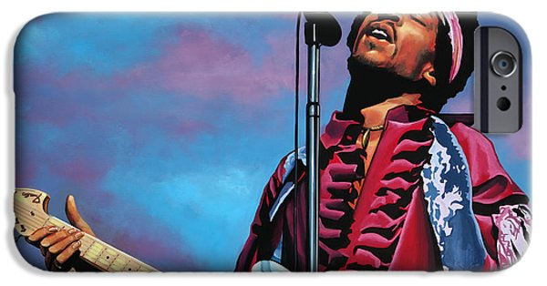 Little iPhone Cases - Jimi Hendrix 2 iPhone Case by Paul  Meijering