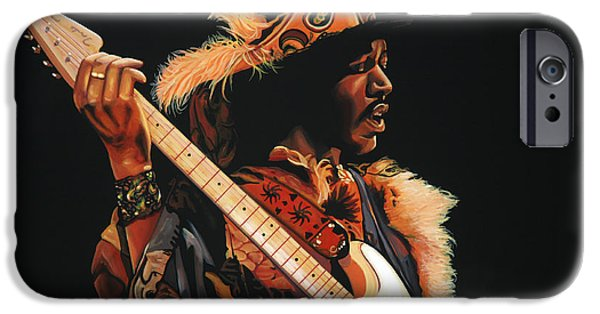 Little iPhone Cases - Jimi Hendrix 3 iPhone Case by Paul  Meijering
